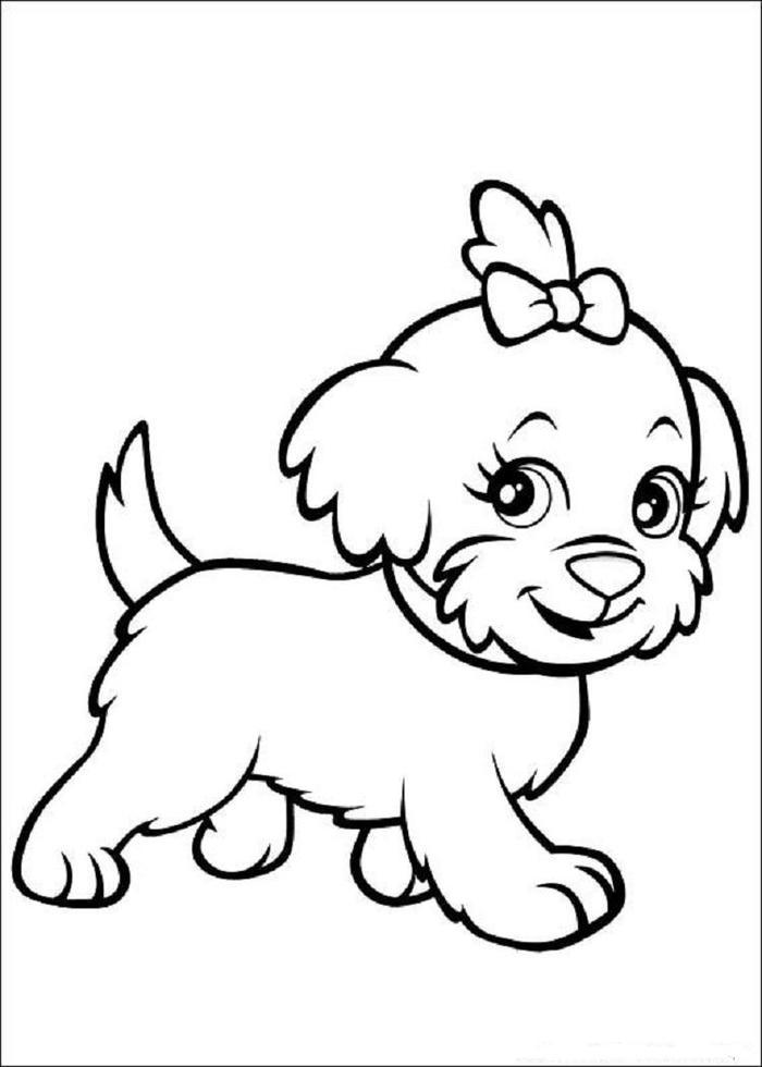 Dog Coloring Pages For Girls