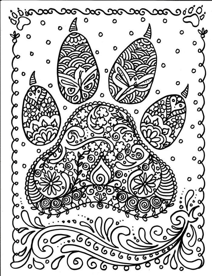Dog Coloring Pages Hard