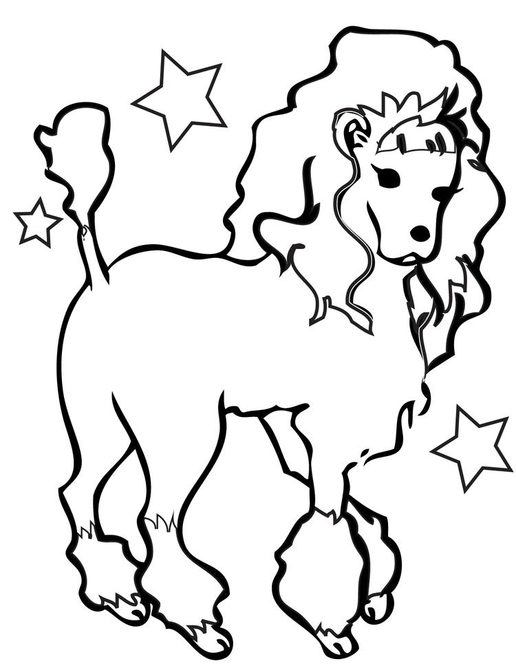 Dog Coloring Pages Poodle