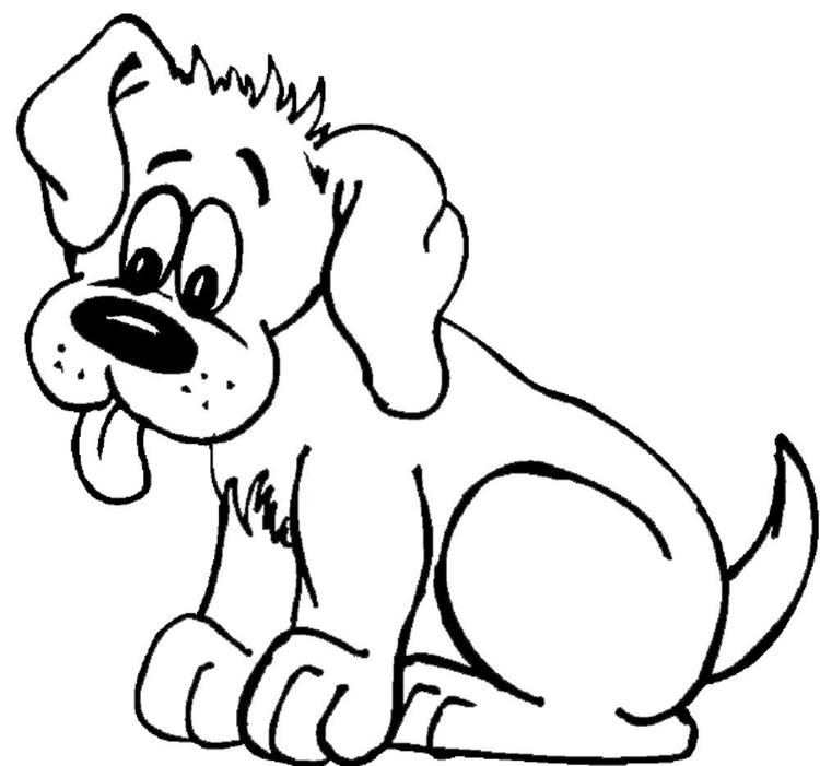 Dog Coloring Pages Tongue Out