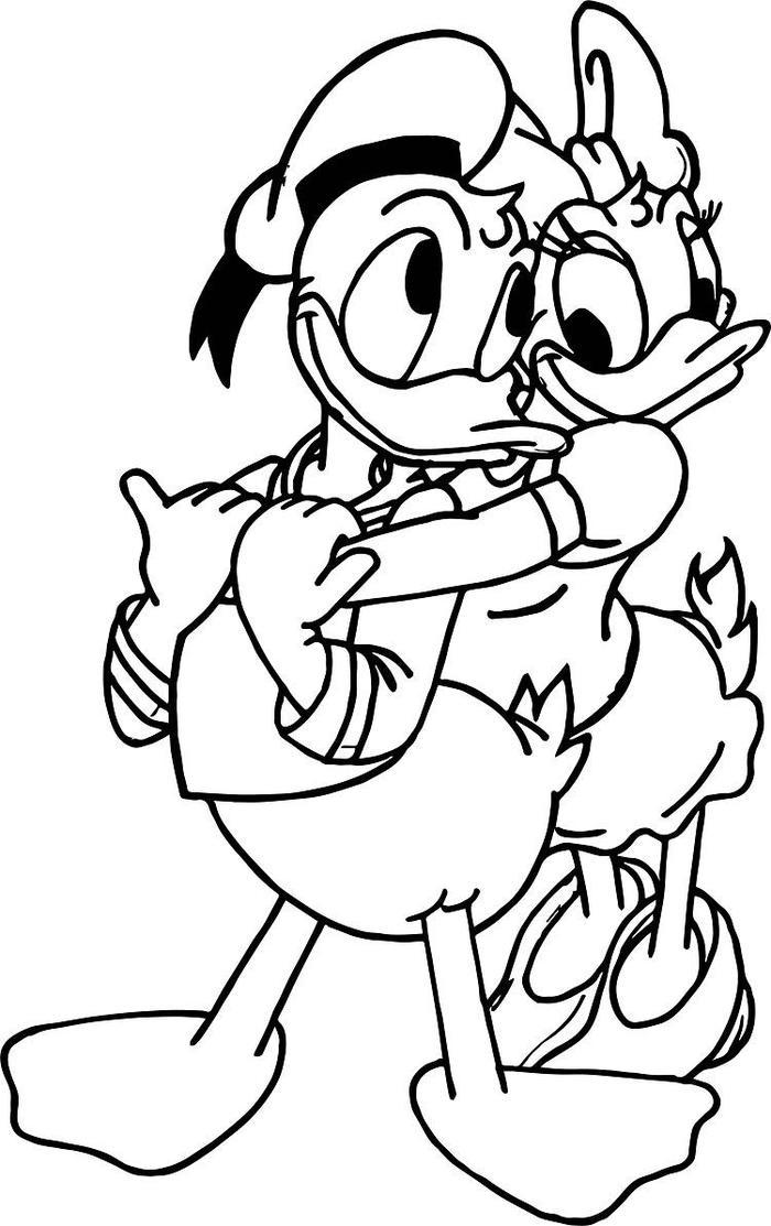 Donald And Daisy Duck Coloring Pages