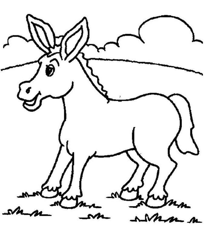 Donkey Coloring Pages Preschool