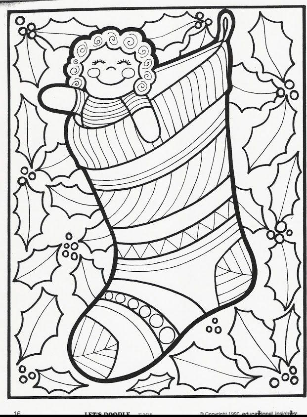 Doodle Coloring Pages Christmas