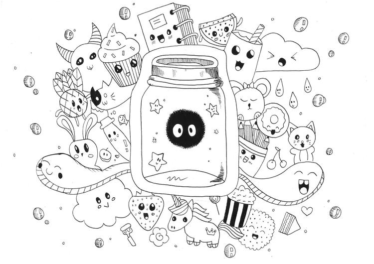 Doodle Coloring Pages Cute