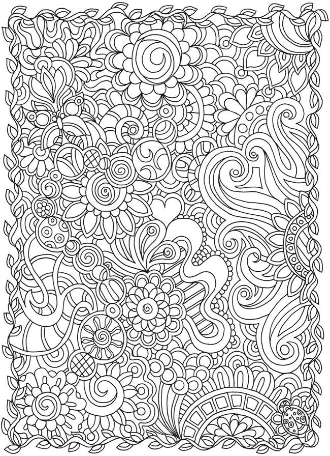Doodle Coloring Pages For Adults Printable