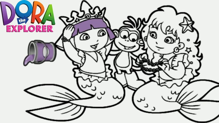 Dora Save The Mermaid Coloring Pages