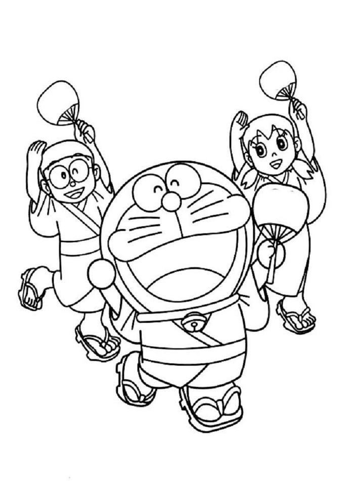 Doraemon Coloring Pages Characters