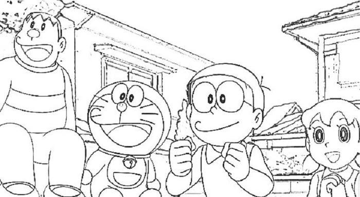 Doraemon Coloring Pages For Adults
