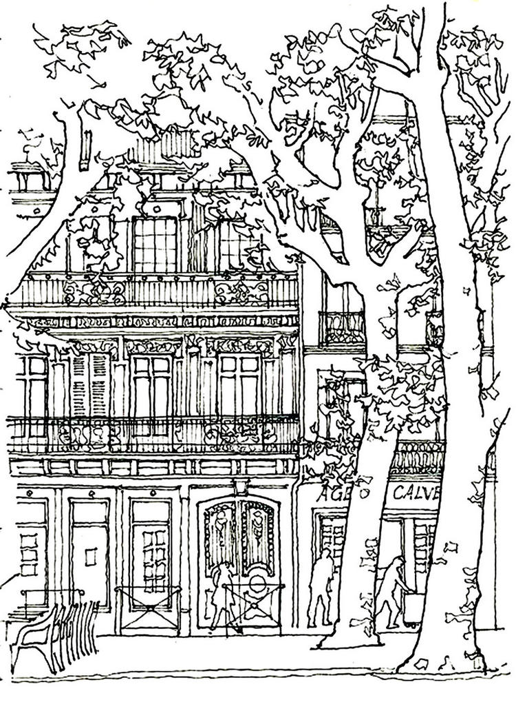 Dormitory Coloring Page To Print