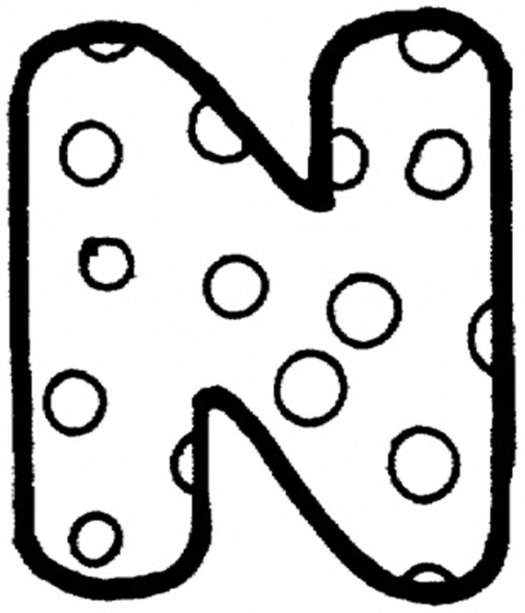 Dots N Free Alphabet Coloring Pages