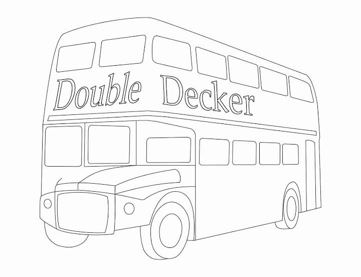 Double Decker Or Buscoloring Pages