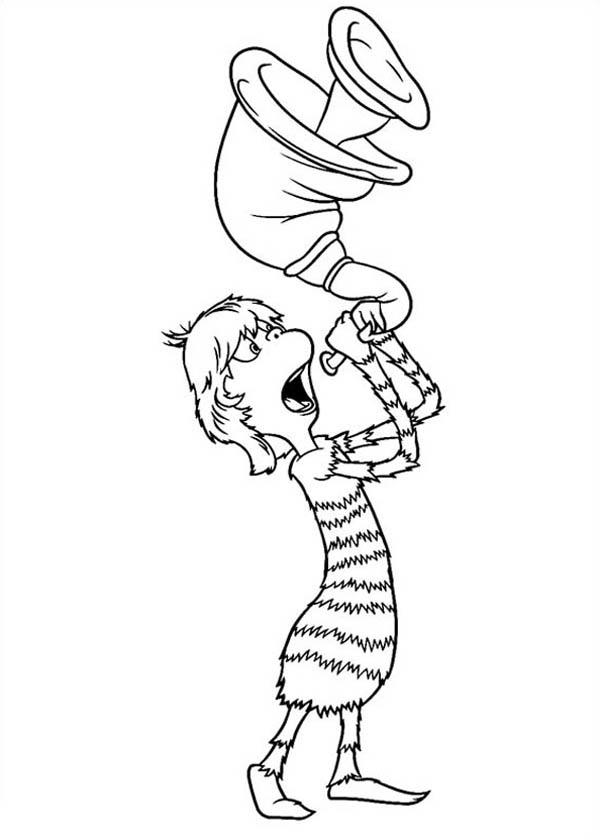 Dr Mary Lou Larue Blowing Horn In Horton Hears A Who Coloring Pages
