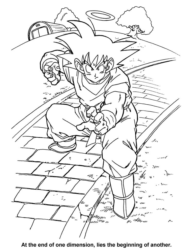 Dragon Ball Z Coloring Pages 1