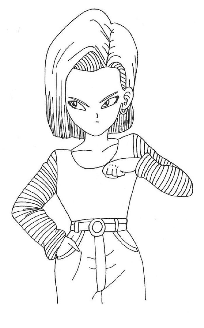 Dragon Ball Z Coloring Pages Android 18