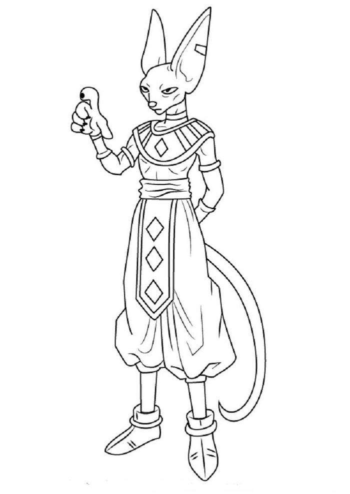 Dragon Ball Z Coloring Pages Beerus