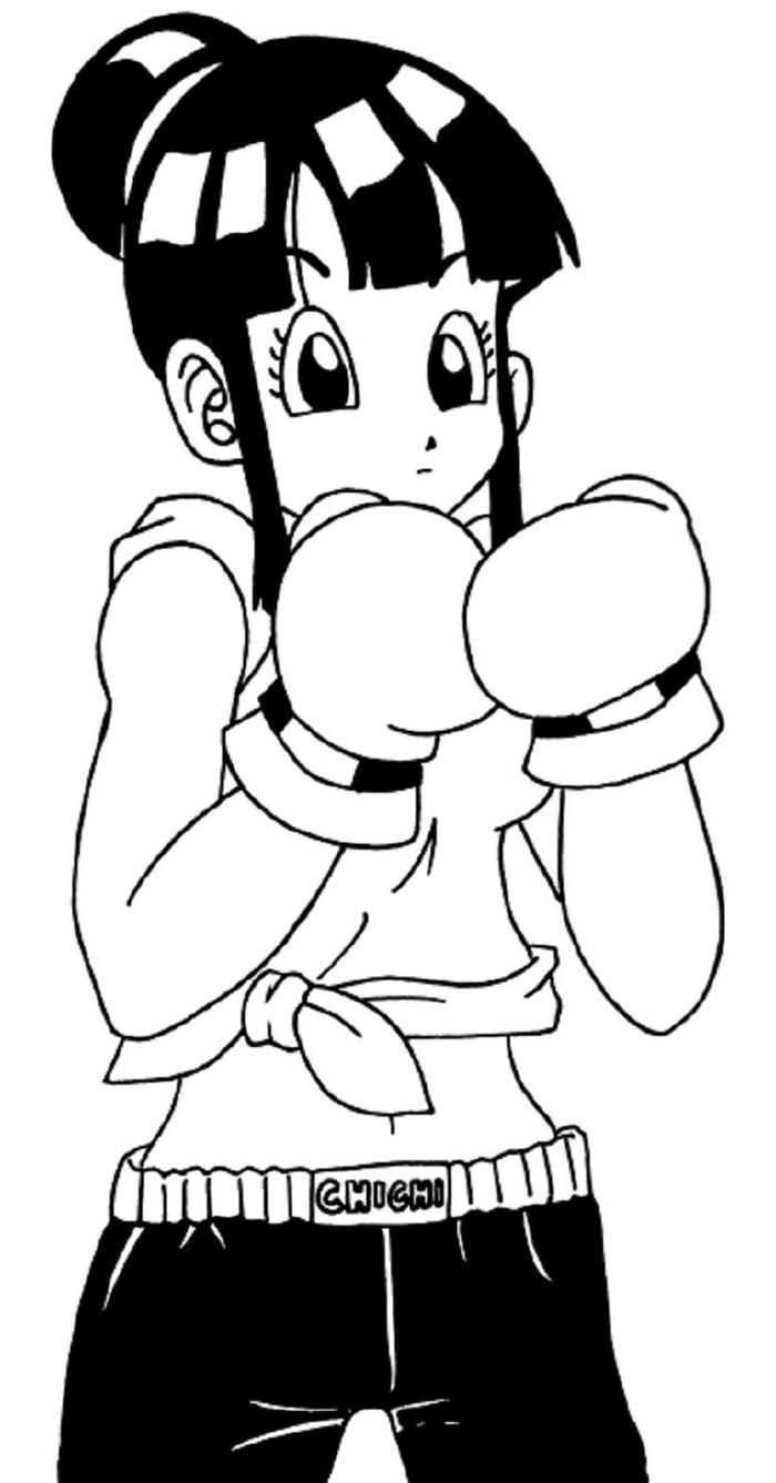 Dragon Ball Z Coloring Pages Chi Chi