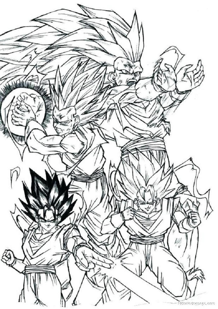 Dragon Ball Z Coloring Pages For Adults
