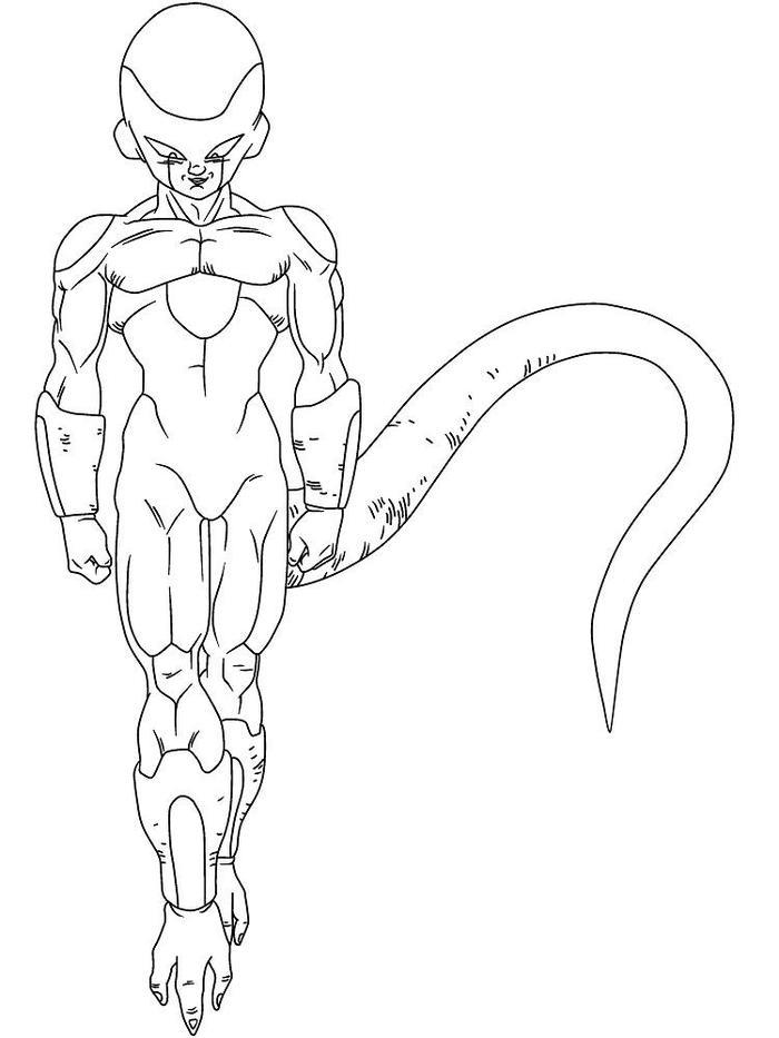 Dragon Ball Z Coloring Pages Frieza