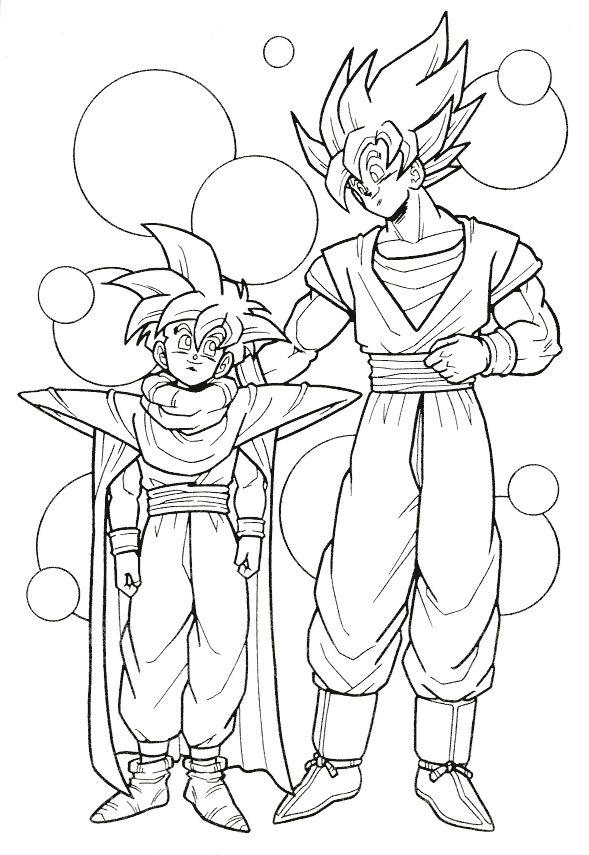 Dragon Ball Z Coloring Pages Goku And Gohan
