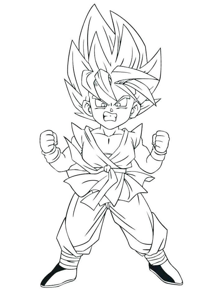 Dragon Ball Z Coloring Pages Goten