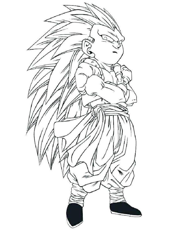 Dragon Ball Z Coloring Pages Gotenk