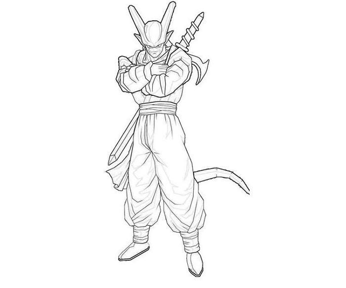 Dragon Ball Z Coloring Pages Janemba