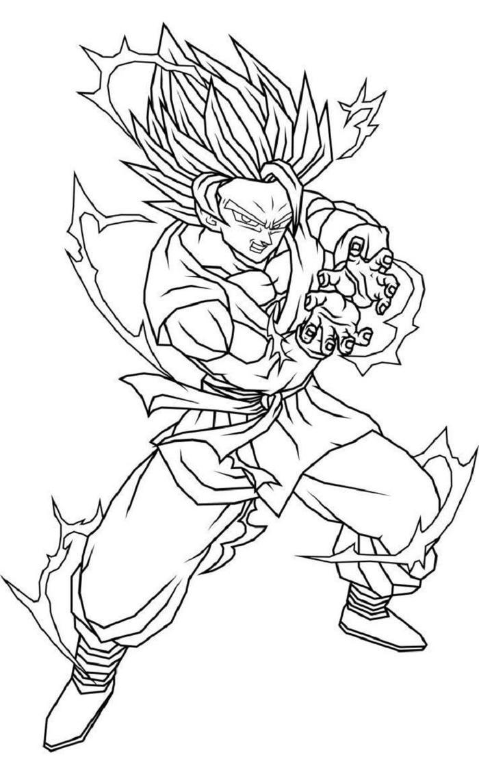 Dragon Ball Z Coloring Pages Kamehameha