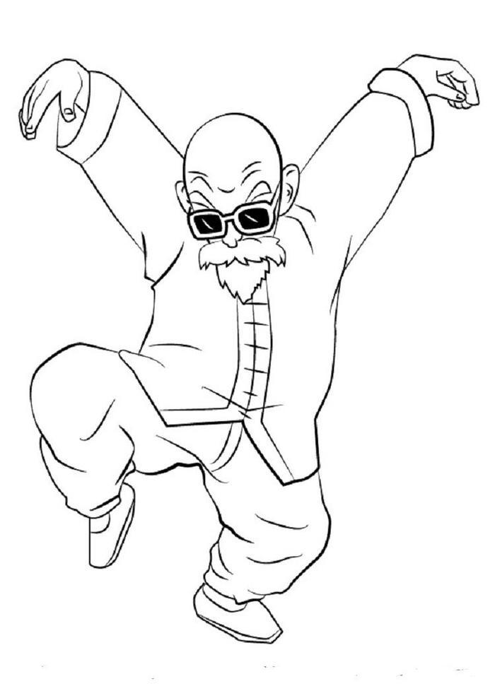 Dragon Ball Z Coloring Pages Master Roshi