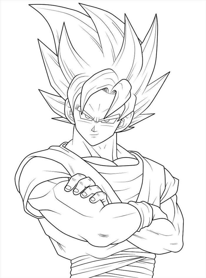 Dragon Ball Z Coloring Pages Outline
