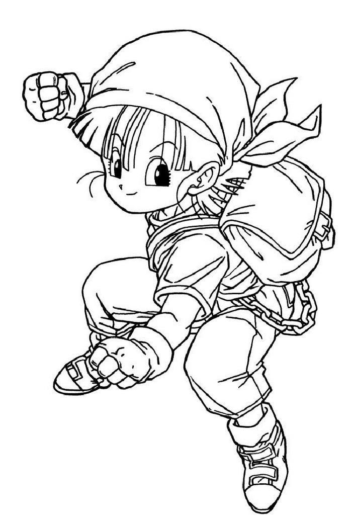 Dragon Ball Z Coloring Pages Pan