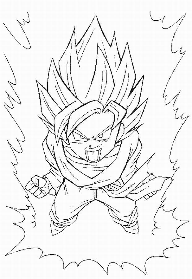 Dragon Ball Z Coloring Pages Super Saiyan Transform