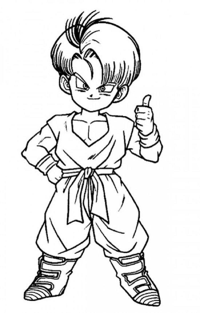 Dragon Ball Z Coloring Pages Trunks