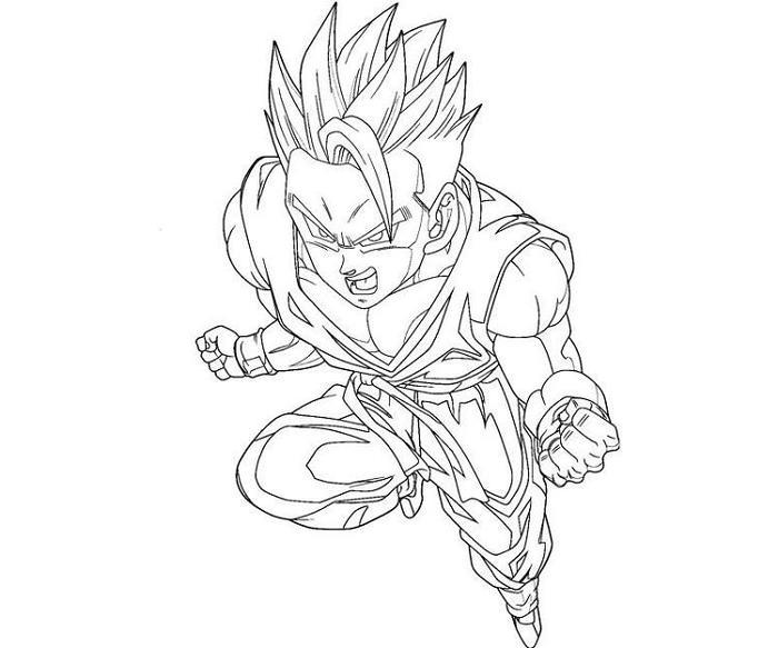 Dragon Ball Z Coloring Pages Ultimate Gohan