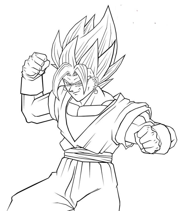 Dragon Ball Z Coloring Pages Vegito