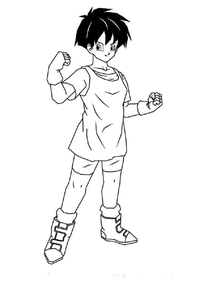Dragon Ball Z Coloring Pages Videl