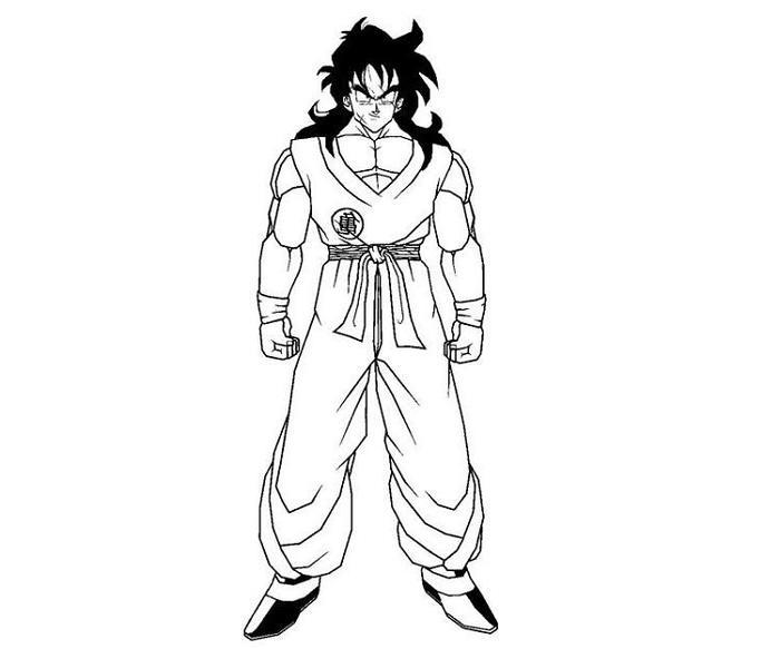 Dragon Ball Z Coloring Pages Yamcha
