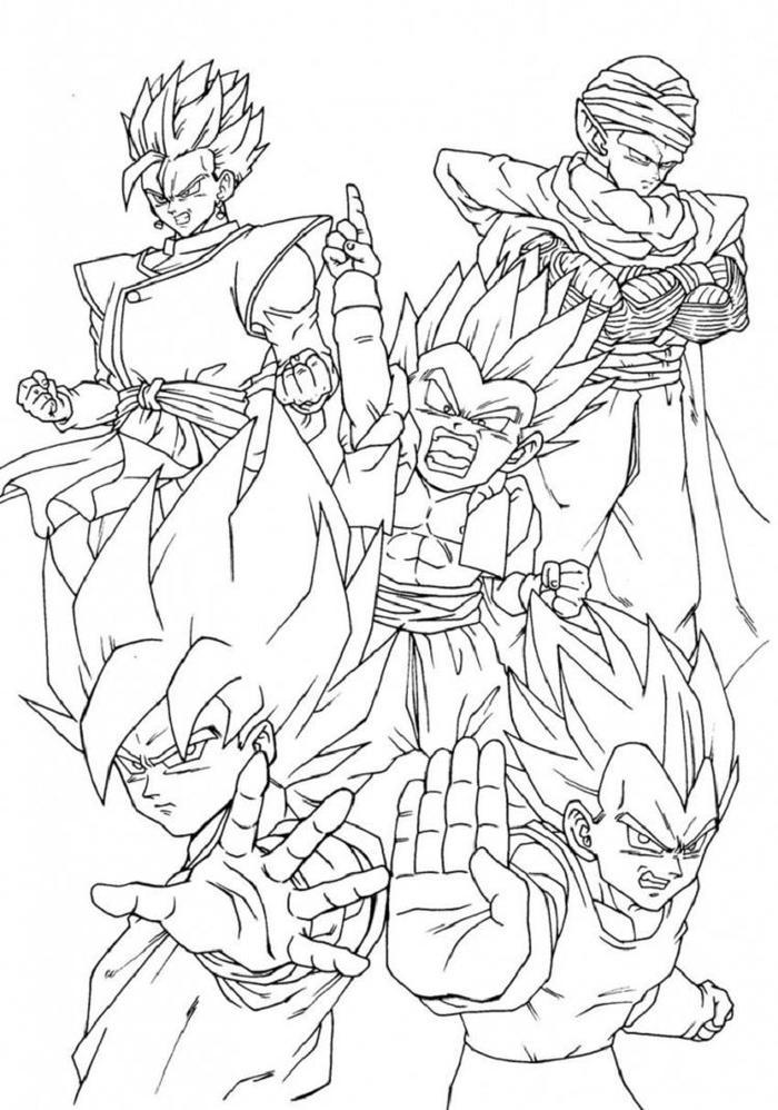 Dragon Ball Z Super Coloring Pages