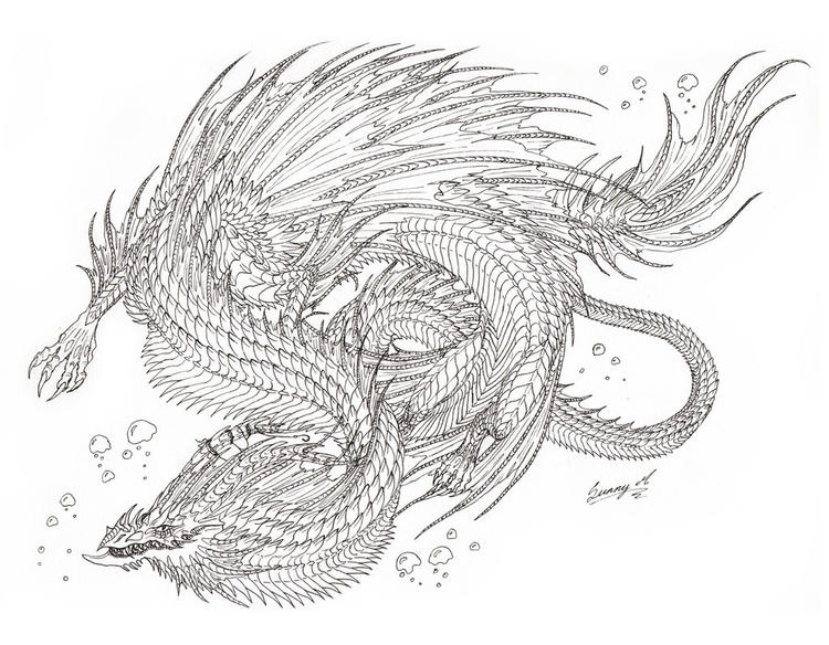 Dragon Coloring Pages For Adults By Sunima