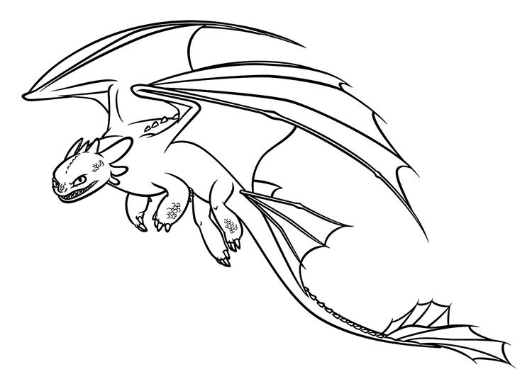 Dragon Coloring Pages Toothless