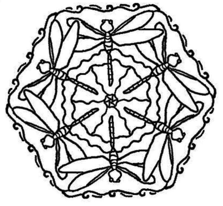 Dragonfly Mandala Coloring Page For Adults