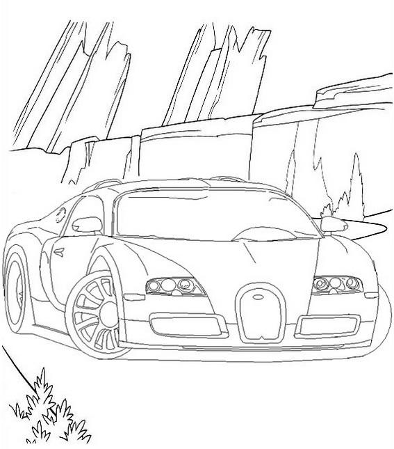 Draw Bugatti Veyron Cars Coloring Page To Print Coloring Ideas