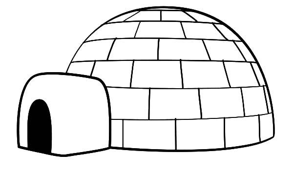 Drawing An Igloo Coloring Pages