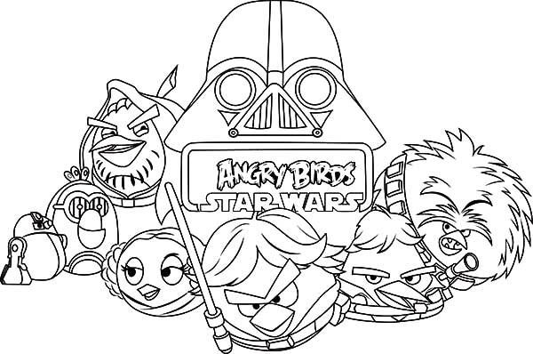 Drawing Angry Bird Star Wars Coloring Pages