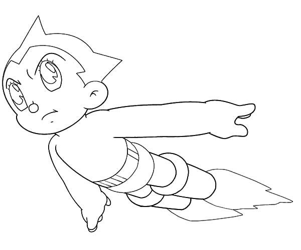 Drawing Astro Boy Coloring Pages