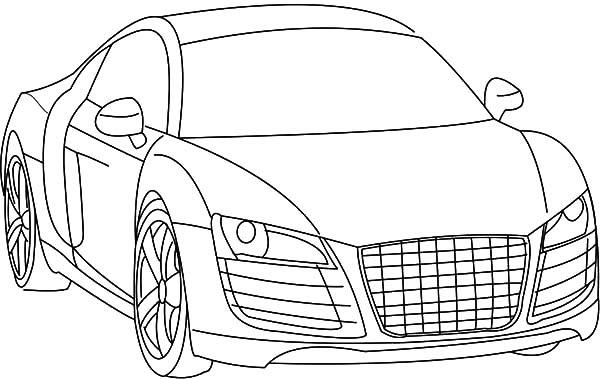 Drawing Audi Cars R8 Coloring Pages