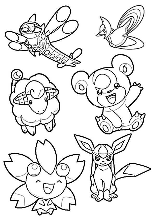 Drawing Chiby Pokemon Coloring Pages