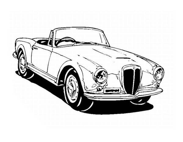 Drawing Classic Cars Coloring Pages