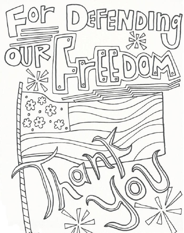 Drawing Memorial Day Coloring Pages