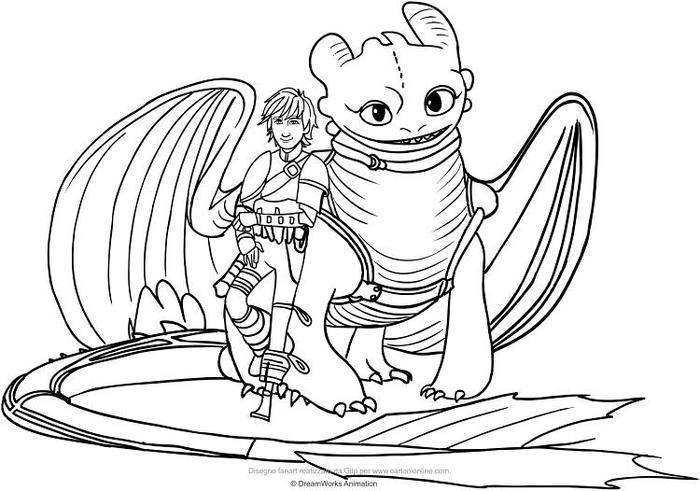 Dreamworks Dragons Coloring Pages