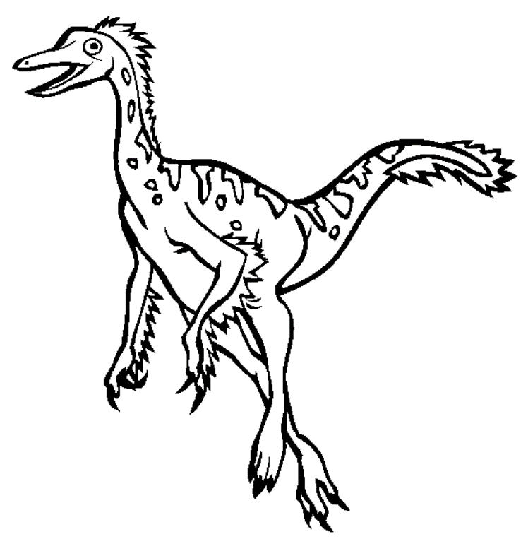 Dromiceiomimus Dinosaur Coloring Pages